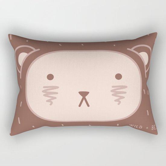 WILD + BEAR print Rectangular Pillow