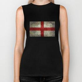 Flag of England (St. George's Cross) Vintage retro style Biker Tank