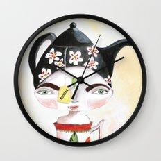 Miss Tea-Time Wall Clock