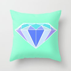 Blue Ice | Diamond Throw Pillow
