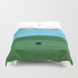 Keeping Distance Duvet Cover