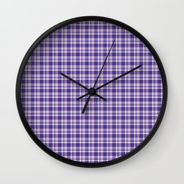 Purple Plaid Wall Clock