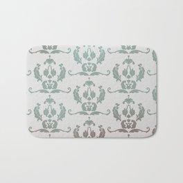 Damask Print Bath Mat