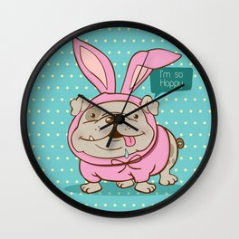 A hoppy bulldog! Wall Clock
