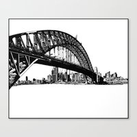 sydney Canvas Prints featuring sydney by Jette Geis