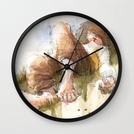 Countryside Nap Wall Clock