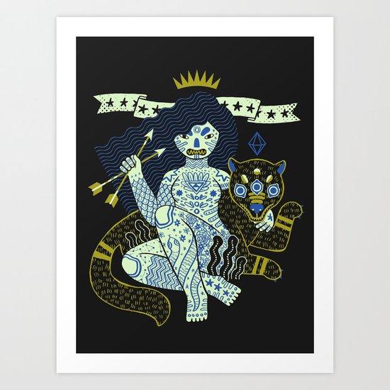 Perilous Queen Art Print