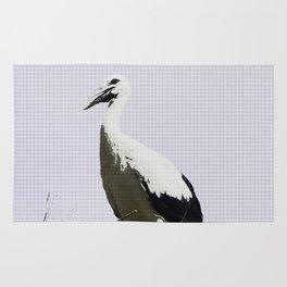 Urban Pop Art Stork Rug
