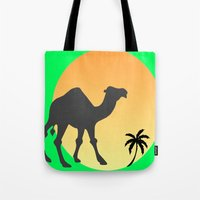 camel Tote Bags featuring Camel by Geni