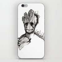 groot iPhone & iPod Skins featuring Groot by Andreea Rosu