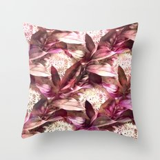 Flowers and Leaves - A Pattern Throw Pillow