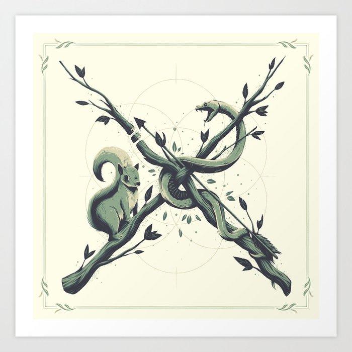 """X"" Art Print"