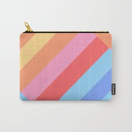 Matted Pastel Rainbow Layered Carry-All Pouch