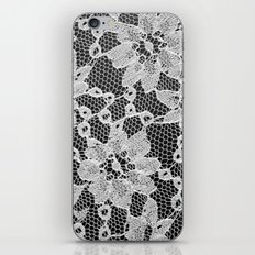 black and white laced iPhone & iPod Skin