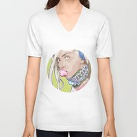 artrave V-neck T-shirts featuring artRAVE FREAKshow by AdamAether
