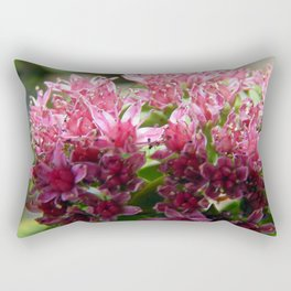 Sedum Flowers and the Ant Rectangular Pillow