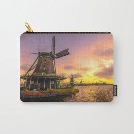 zaanse schans windmill village Carry-All Pouch