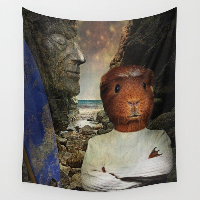 Hang Ten Hamster Wall Tapestry