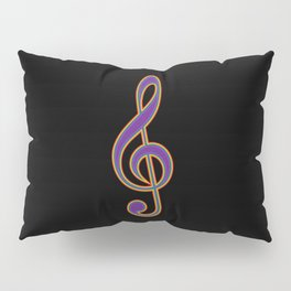 Rainbow G Clef Treble Clef Music Lover Musician Pillow Sham