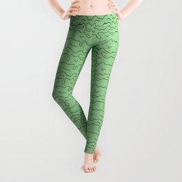 Slime Time Pattern - Green Leggings