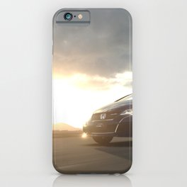 japanese racing car type R  jdm tuning at sunrise iPhone Case
