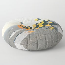 Surreal Floating Cubes Floor Pillow
