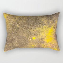Yellow Painted on Concrete Rectangular Pillow