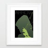 green arrow Framed Art Prints featuring Arrow by Frank DeAngelo