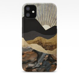 Copper and Gold Mountains iPhone Case