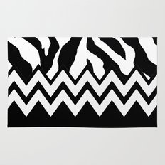 Zebra Chevron Rug