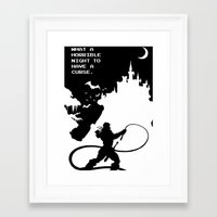 castlevania Framed Art Prints featuring Castlevania by Darth Paul