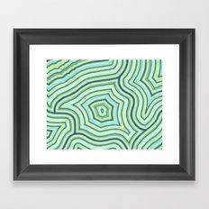 Blue Green Pattern Framed Art Print