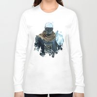 dark souls Long Sleeve T-shirts featuring Dark Souls Knight Splatter by 666HUGHES
