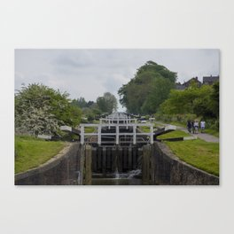 Looking up Caen Hill Canvas Print