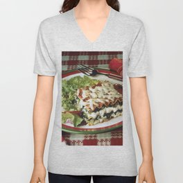 Lasagna Dinner Unisex V-Neck