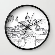 Cogolludo Sunrise (line) Wall Clock