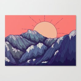 An early morning view Canvas Print
