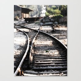Abandoned Rail Tracks Canvas Print