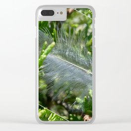 A stray feather Clear iPhone Case
