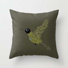 Abstract Hummingbird Throw Pillow