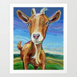 Lillie the FARM GOAT Painting Art Print