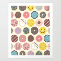 donuts Art Prints featuring DONUTS! by JONGMEE