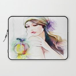 Watercolor Girl V4 Laptop Sleeve
