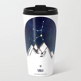 Astrology Virgo Zodiac Horoscope Constellation Star Sign Watercolor Poster Wall Art Travel Mug