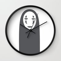 spirited away Wall Clocks featuring Spirited Away by Jazmyn