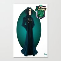 snape Canvas Prints featuring Severus Snape by Zeynep Aktaş