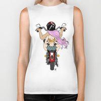 harley Biker Tanks featuring Harley by Natalie Easton