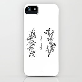 Choose Love (and Flowers) iPhone Case