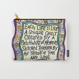 Quilt Quote Pink Carry-All Pouch