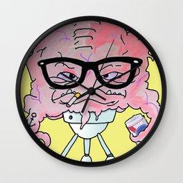 Brainy Hipster Wall Clock